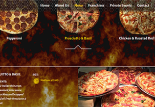 fired up pizza website